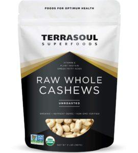 Terrasoul Superfoods Raw Whole Cashews