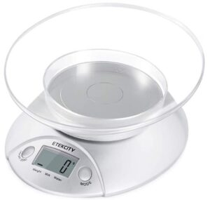ETEKCITY DIGITAL FOOD SCALE WITH BOWL