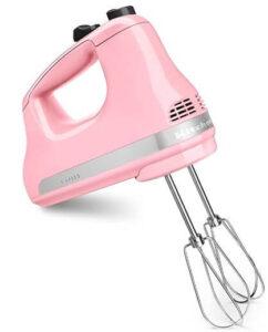 KitchenAid Ultra Power 5-Speed Hand Mixer, Guava Glaze