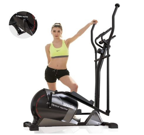 SNODE Magnetic Elliptical Trainer Exercise Machine Heavy Duty 3PC Crank for Stronger Intensity and Durability, Programmable Monitor for Home Fitness Cardio...