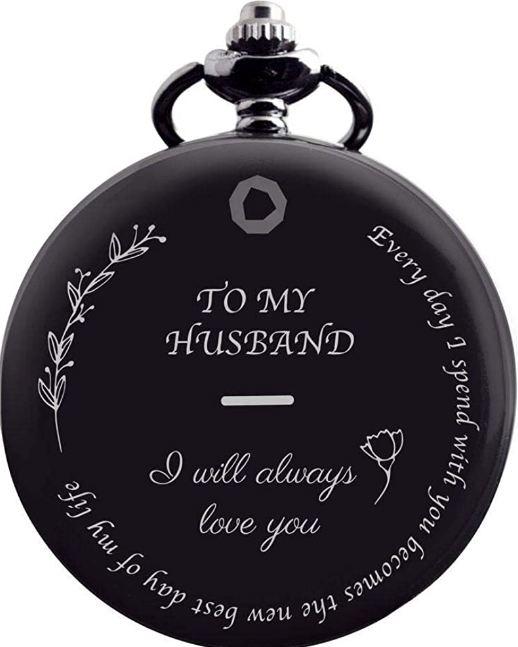 to my husband pocket watch