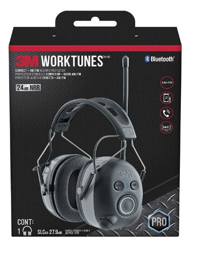 WorkTunes Connect + AM/FM Hearing Protector with Bluetooth Technology, Ear protection for mowing, snowblowing, construction, work shops